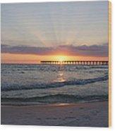 Glowing Sunset Wood Print by Sandy Keeton