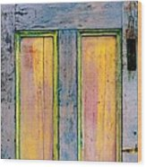 Glowingthrough Painted Door Wood Print
