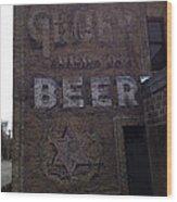 Gluek Beer Wood Print