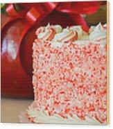 Gluten Free Peppermint Cake Wood Print