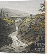 Glyn Diffwys Stone Bridge, Wales, 1800 Wood Print