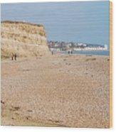 Glyne Gap Beach In England Wood Print
