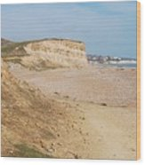 Glyne Gap Cliffs In Sussex Wood Print