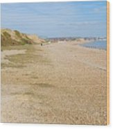 Glyne Gap Coast In England Wood Print