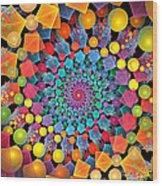Glynnsims Spiral Fiesta Wood Print