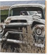 G M Old Pickup Wood Print