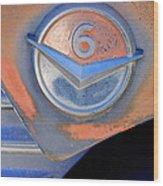 Gmc 4000 V6 Pickup Truck Emblem Wood Print