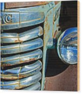 Gmc Truck Grille Emblem Wood Print
