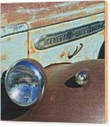 Gmc Truck Side Emblem Wood Print