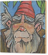 Gnome 2 Wood Print