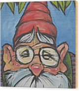 Gnome 6 Wood Print