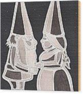 Gnome Kiss Wood Print