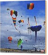 Go Fly A Kite 4 Wood Print