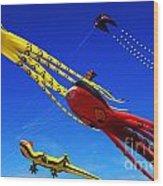 Go Fly A Kite 7 Wood Print