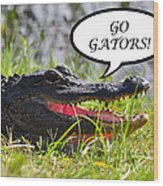 Go Gators Greeting Card Wood Print