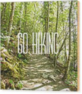 Go Hiking Wood Print