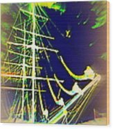 Hopefully We Will Go Sailing Tomorrow Wood Print