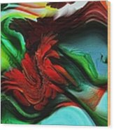 Go With The Flow Abstract Wood Print