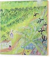 Goa, India, 1998 Oil On Paper Wood Print