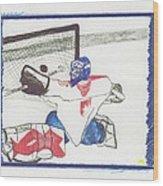 Goalie By Jrr Wood Print