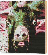 Goat Abstract Wood Print
