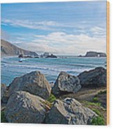 Goat Rock State Beach Near Russian River Outlet Near Jenner-ca Wood Print