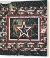 God Bless America Wood Print by Sherry Flaker