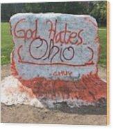 God Hates Ohio Wood Print