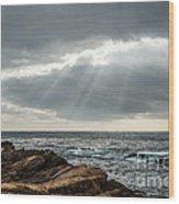 God Rays Wood Print by George Buxbaum