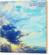 God Shine #2 Wood Print