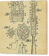 Goddard Rocket Apparatus Patent Art 1914 Wood Print