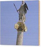Goddess Athena Wood Print