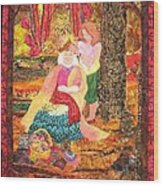 Goddess Crowning Wood Print