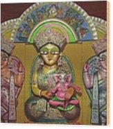Goddess Durga Wood Print by Pradipkumarpaswan