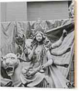 Goddess Durga Wood Print by Shaun Higson