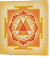 Goddess Durga Yantra Wood Print by Soulscapes - Healing Art