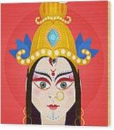 Goddess Maa Durga Wood Print