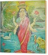 Goddess Mahalaxmi Wood Print