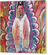 Goddess Of Compassion Wood Print