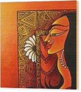 Goddess Of Creation Wood Print