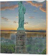 Goddess Of Freedom Wood Print
