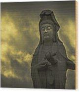 Goddess Of Mercy Wood Print