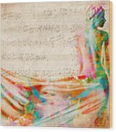 Goddess Of Music Wood Print by Nikki Smith