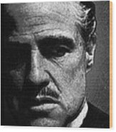 Godfather Marlon Brando Wood Print by Tony Rubino
