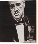 Godfather Wood Print by Michael Mestas