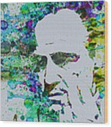 Godfather Watercolor Wood Print
