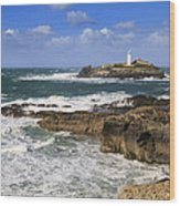 Godrevy Lighthouse - 5 Wood Print