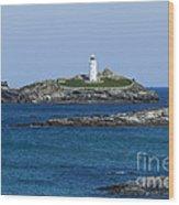 Photographs Of Cornwall Godrevy Lighthouse Wood Print