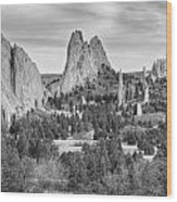 Gods Colorado Garden In Black And White    Wood Print