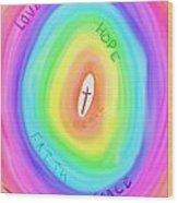 God's Colours Wood Print